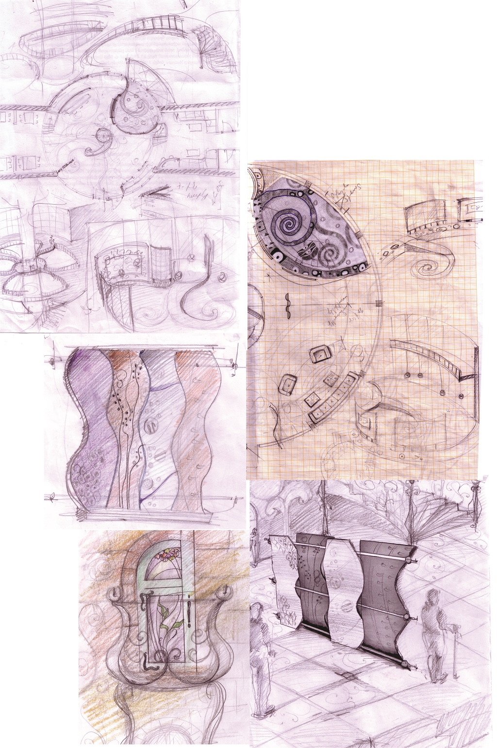 "Hotel ""Klimt"" interior design sketches"