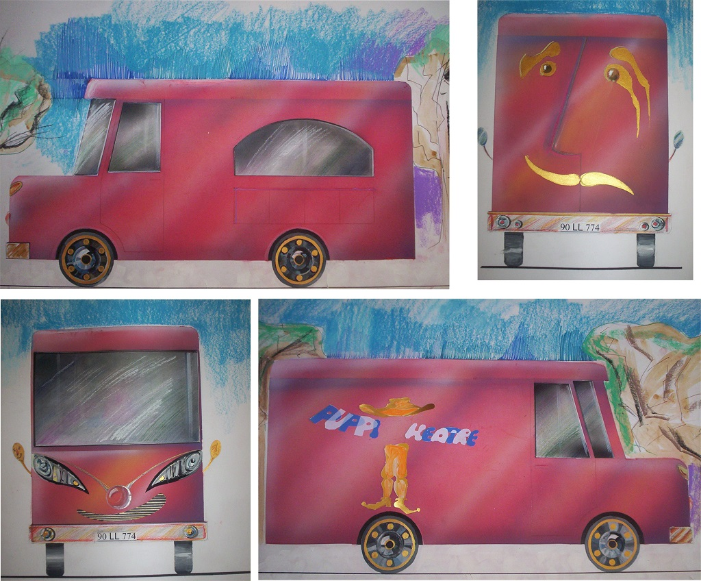 """Theatre On Wheels"" Car design with Layout and Animation"